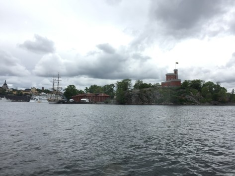Kastellholmen, with medieval-looking Kastellet, which is actually a function space
