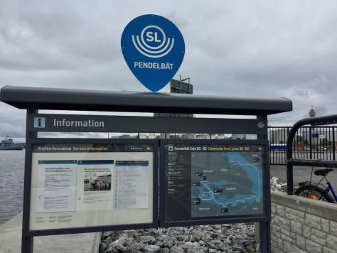 "Frihamnen stop for Stockholm's ""shuttle"" ferry route 80"