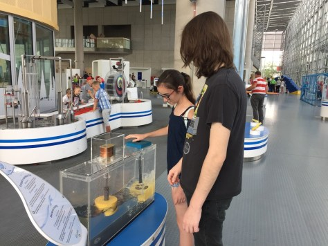 learning about sea waves energy at the Experiment Science Centre (Centrum Nauki Experyment) in Gdynia, Poland