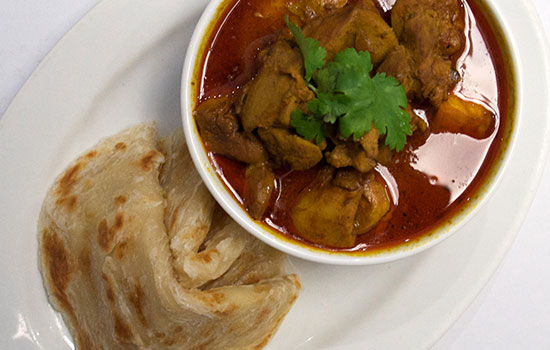 Roti Canai with Beef Curry