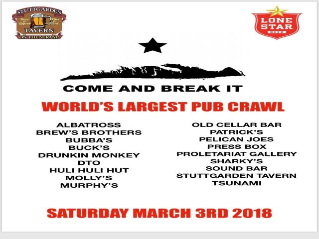 Galveston Island Tx World Record Pub Crawl