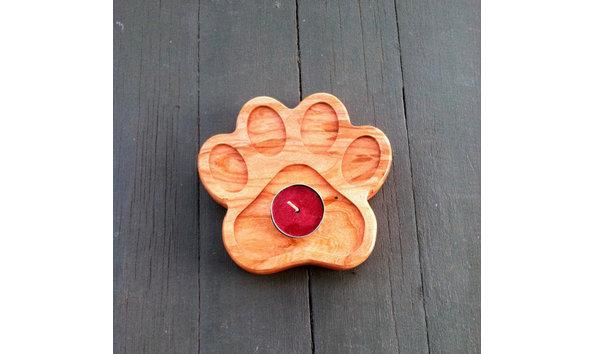 Dog Paw Candle Holder