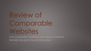 Review of comparable independent and private school websites.
