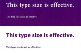 image showing font point size that is effective and point size that is not effective