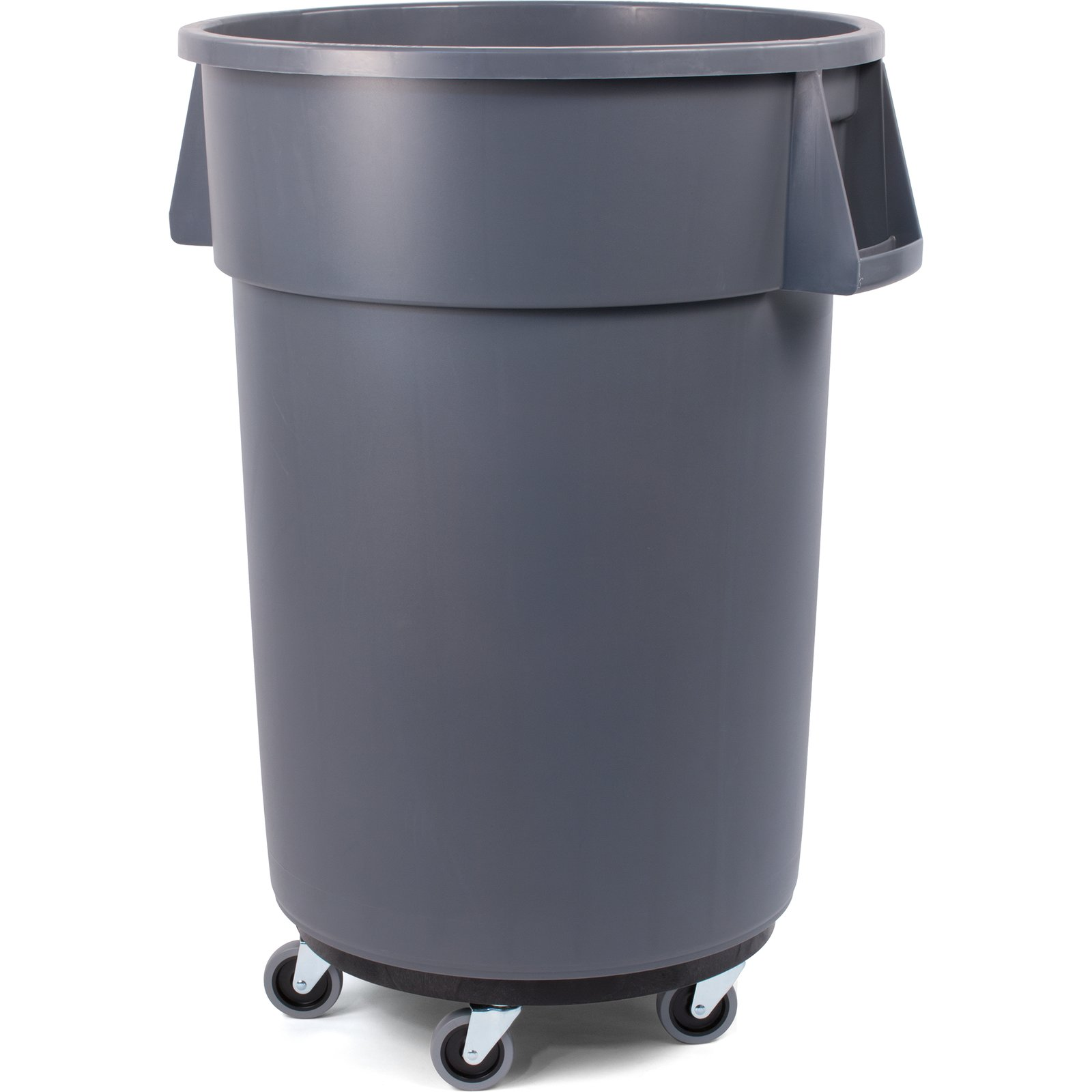 Cool Trash Bins 34114423 Bronco Round Waste Bin Trash Container Dolly 44