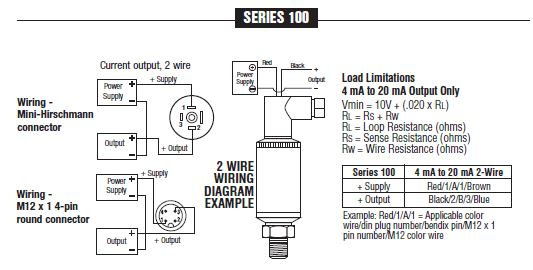 Item # 100-100-1-1-2-7, NOSHOK 100 Series Industrial Current Output