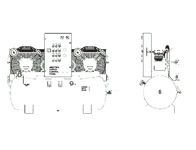 Item # H5MTOIID-8, Matrix CHDMOA Duplex Tank Mounted Air Compressor