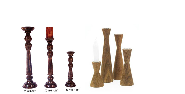 Wooden Productswooden Pillar Candle Holderswooden Photo