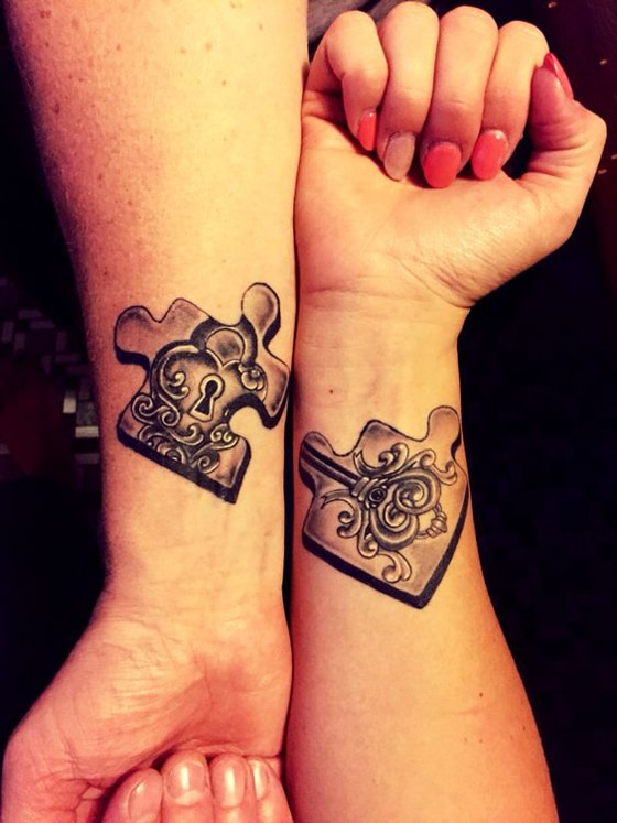 tattoos-para-parejas-enamoradas-rompecabezajpg (560×747) tattos - tatuajes para parejas