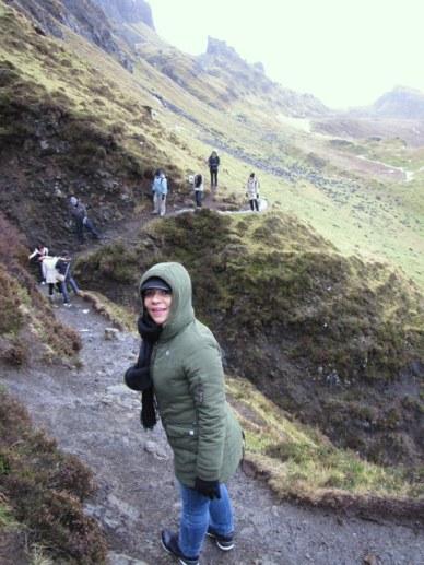 Tentando disfarçar o pânico lha de Skye e Highlands