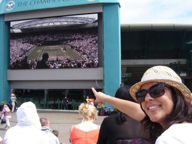 Em Wimbledon! 10 anos de londres