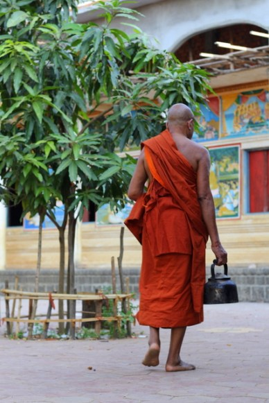 monk floating village