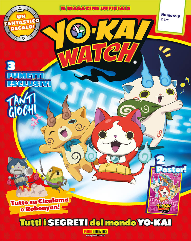 Aida Vino E Cucina Ek?i Fumetto Yo Kai Watch Magazine Vol 9