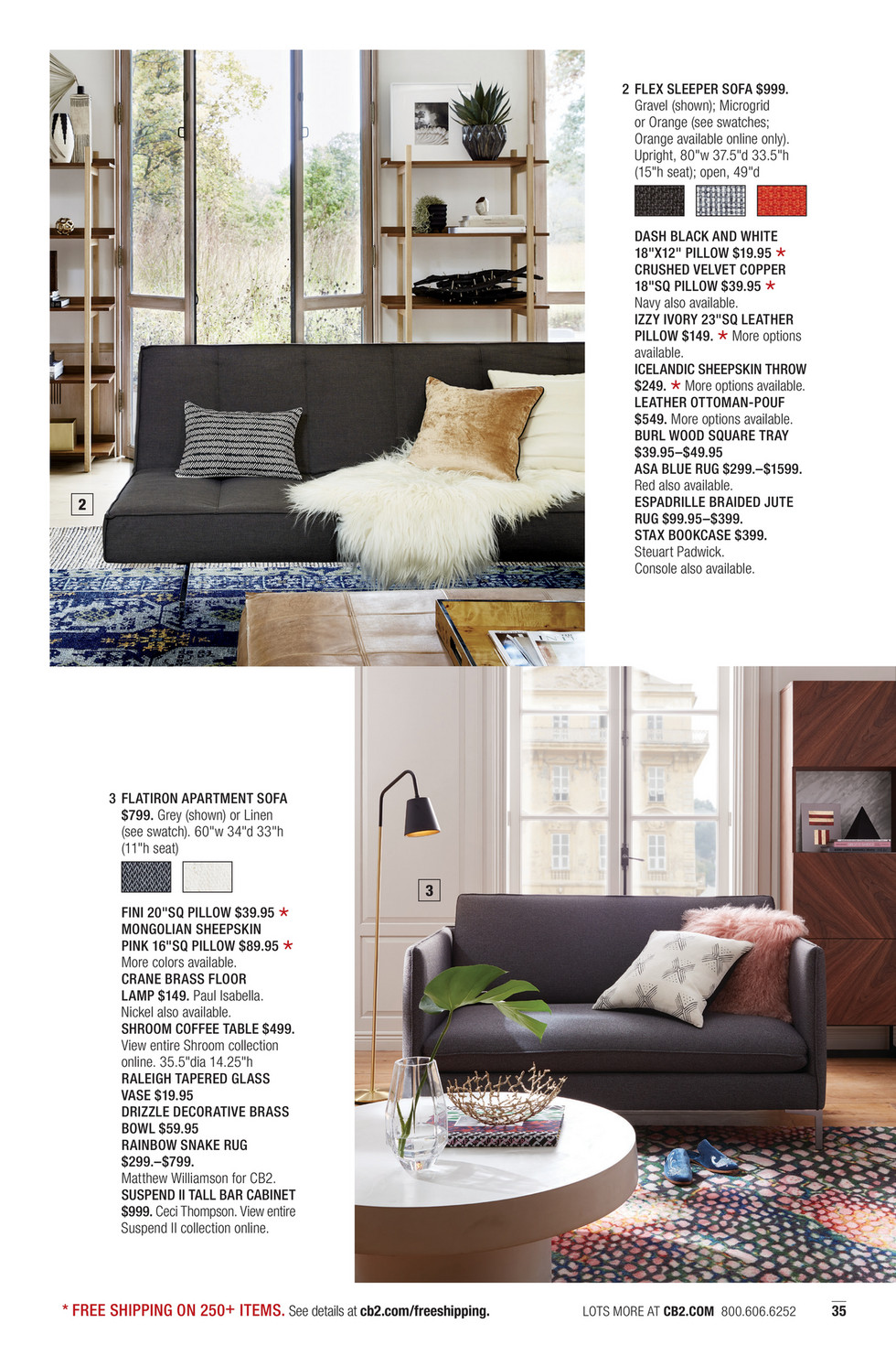 Cb2 June Catalog 2018 Flatiron Grey Apartment Sofa
