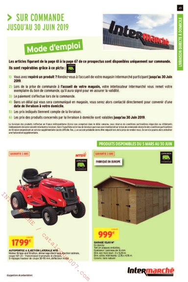 Lidl Table Pliante Intermarché Arrivages Jardin Printemps 2019 – Catalogue007.com
