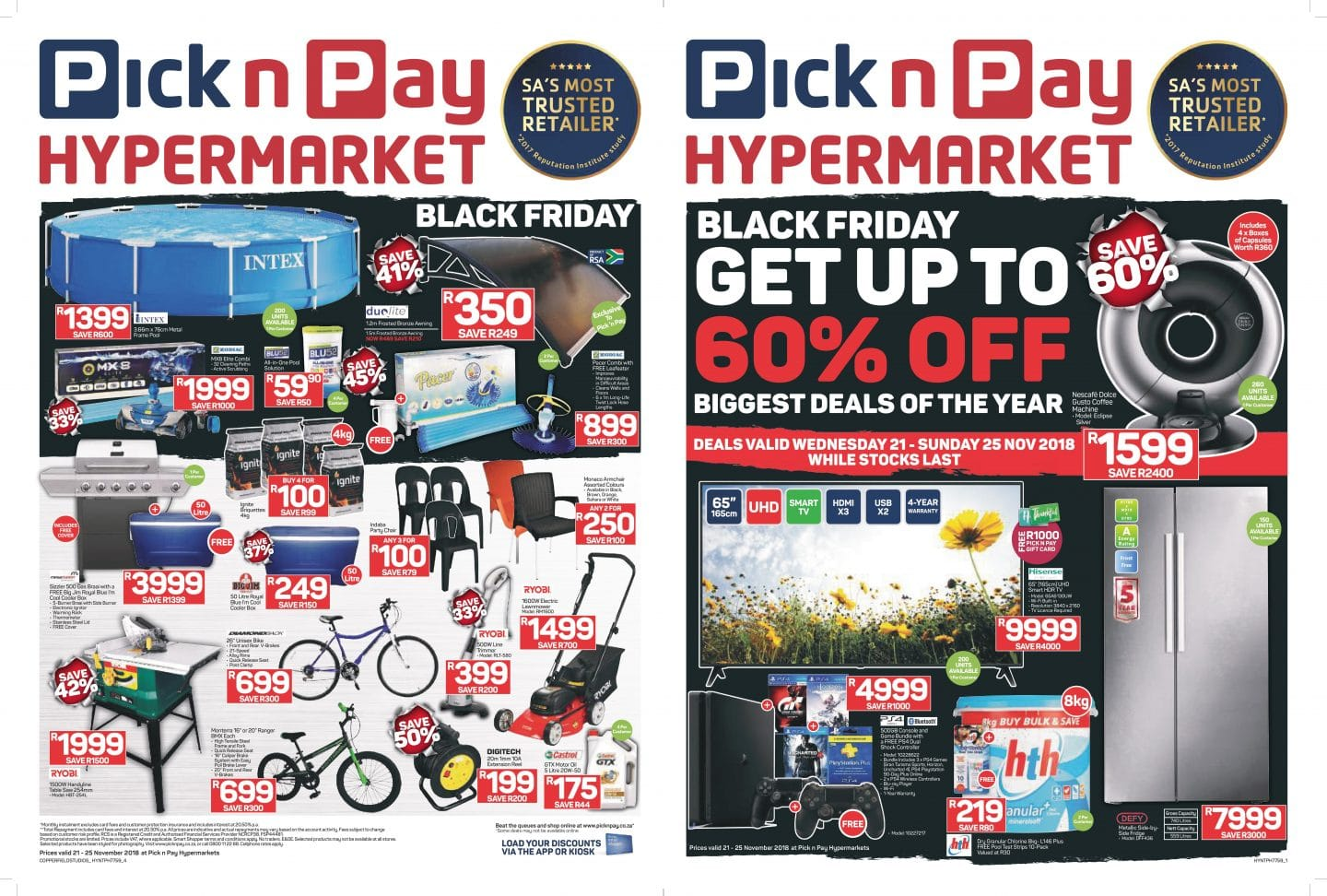 Black Friday Specials Pick N Pay Black Friday 2018 Specials