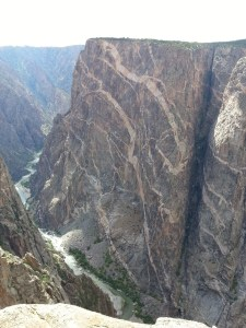 Painted Rock in the Black Canyon of the Gunnison