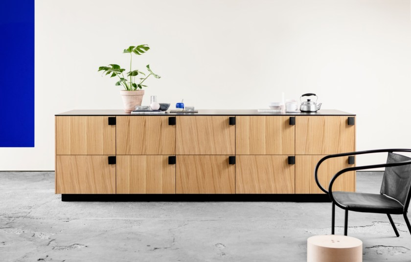 Bjarke Ingels Group's (BIG) kitchen design for Reform, characterised by handles made of seat belt material
