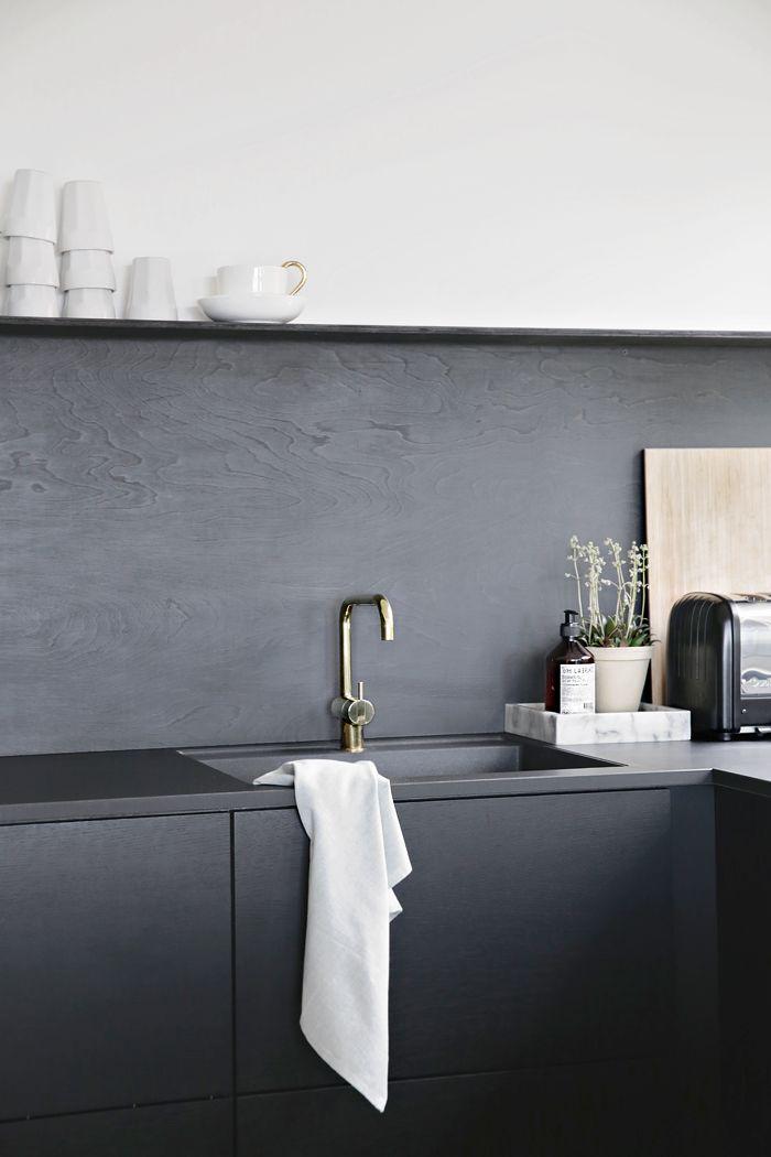 dark minimalist kitchen inspiration
