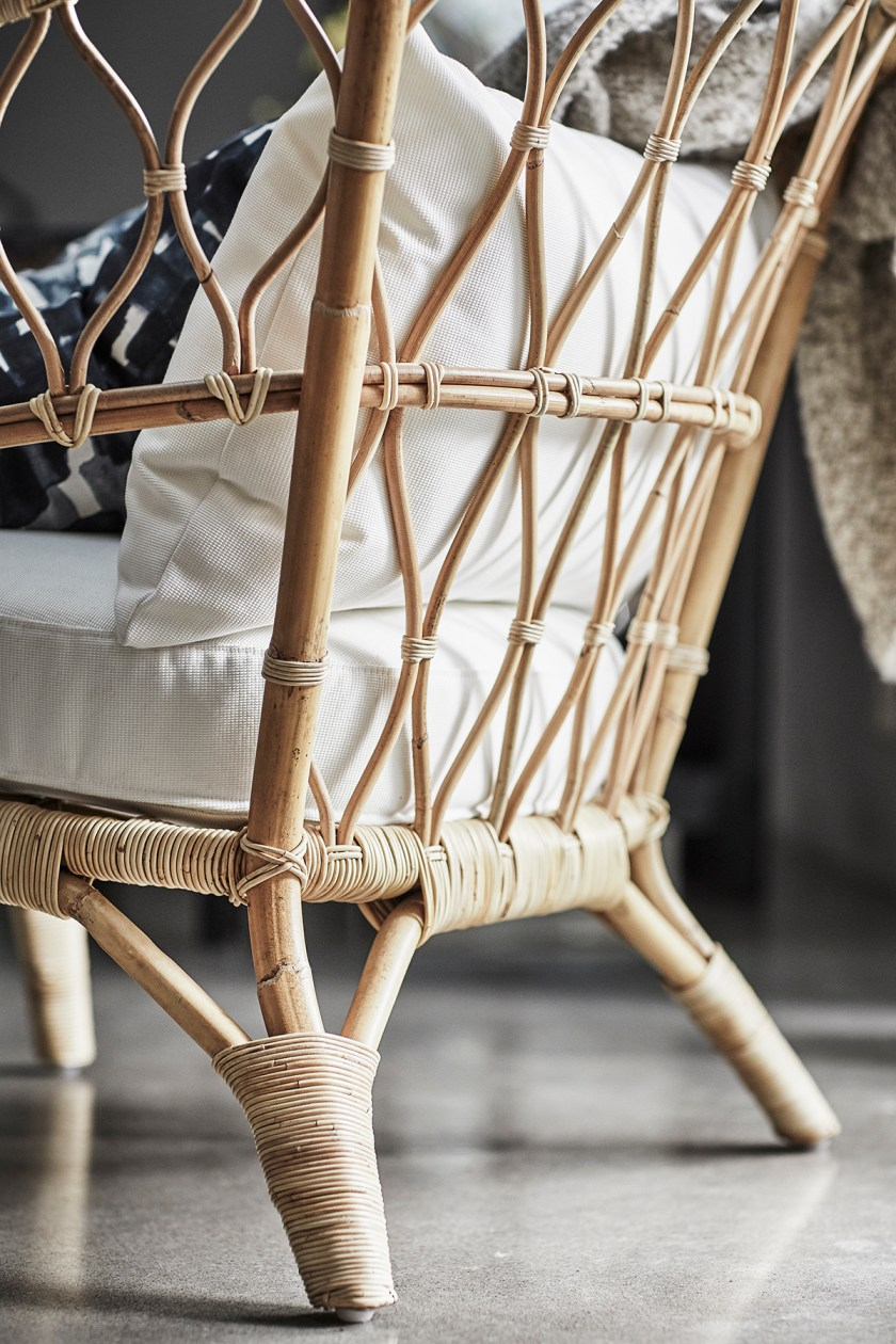IKEA rattan armchair from the Stockholm 2017 collection - 10 minimal, grey armchair under £500