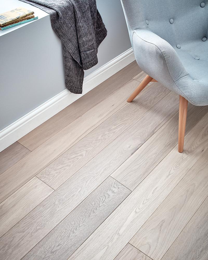 Creating a calm haven with grey wood flooring - woodpecker flooring - solid oak flooring