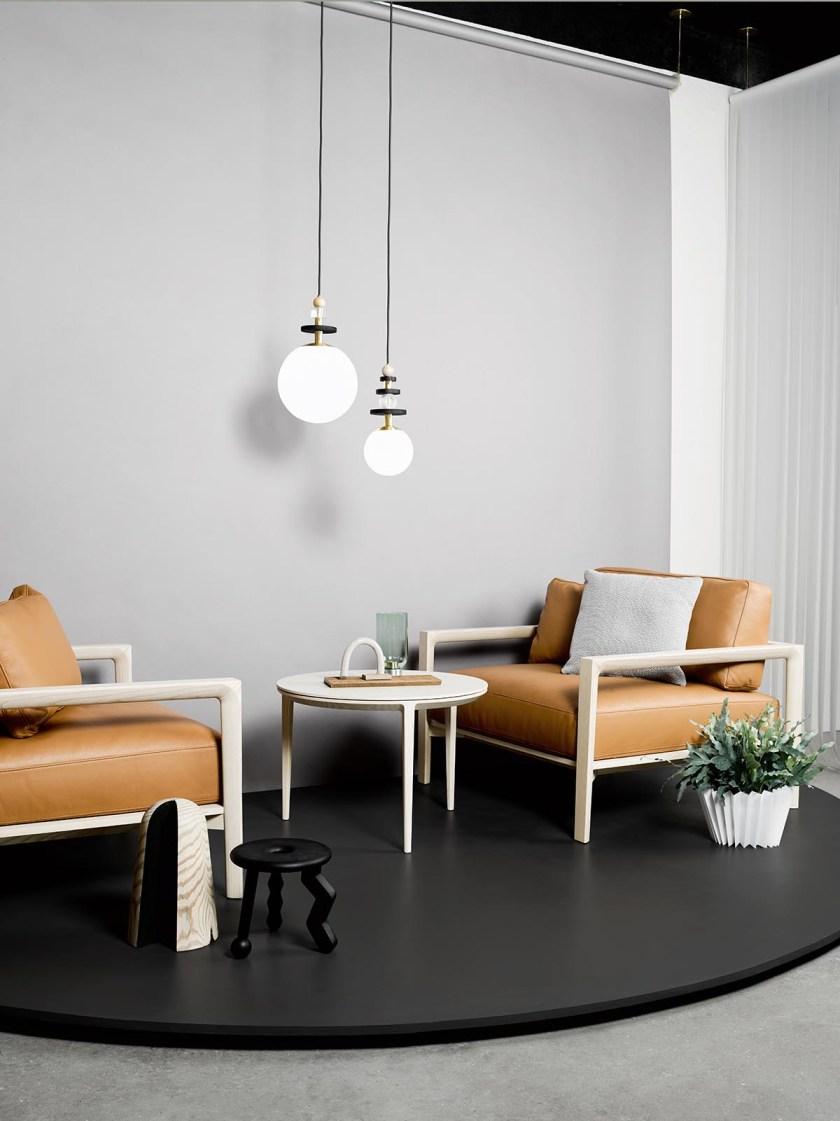 Introducing Australian design brand SP01 - minimal design - contemporary furniture - leather armchair