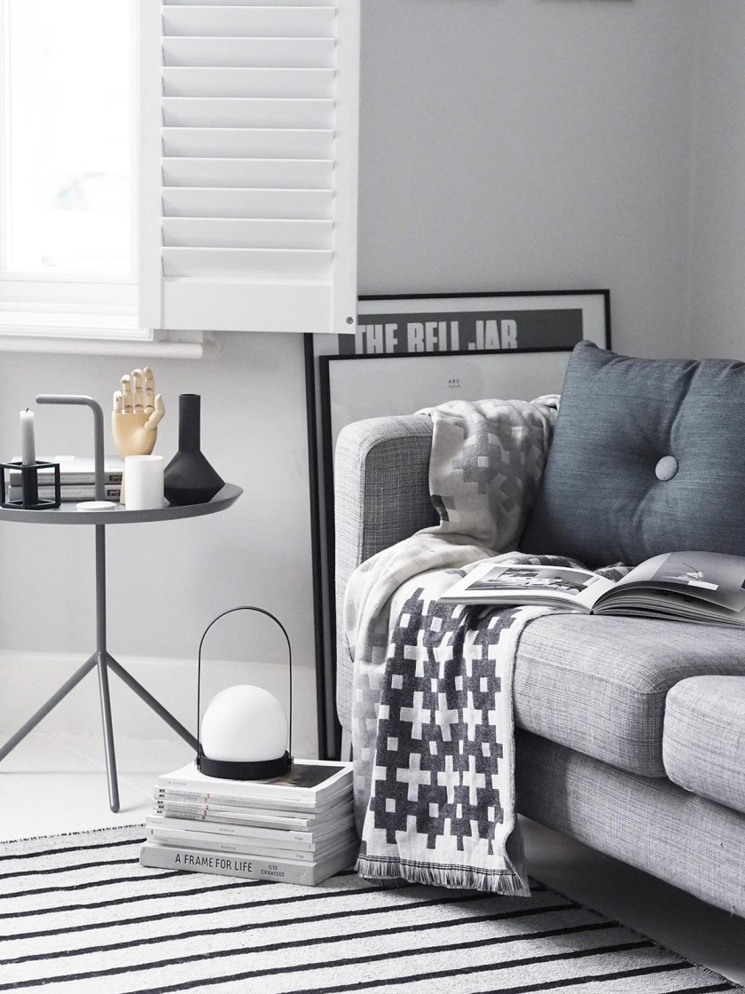 My home on Amara's Home Inspiration page - Scandinavian style interiors - grey living room