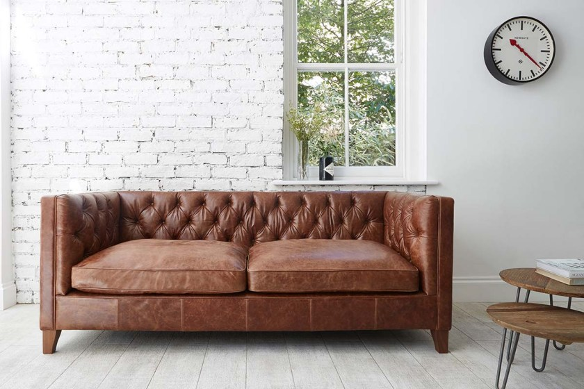 Tips for choosing a sofa to suit your home - Edward Large Sofa In Galveston Bark by Darlings of Chelsea