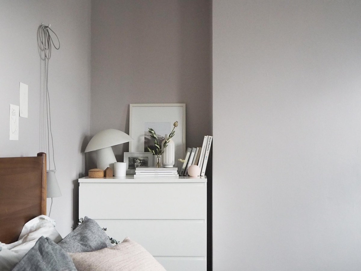 Soft blush pink bedroom reveal BEFORE + AFTER