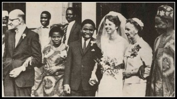 Wedding photo as it appeared in Life Magazine, Jan. 1965.
