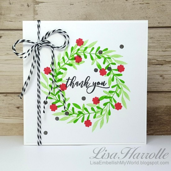 Holiday Thank You Card - Catherine Pooler Designs