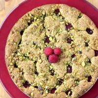 Gâteau moelleux pistache - framboise
