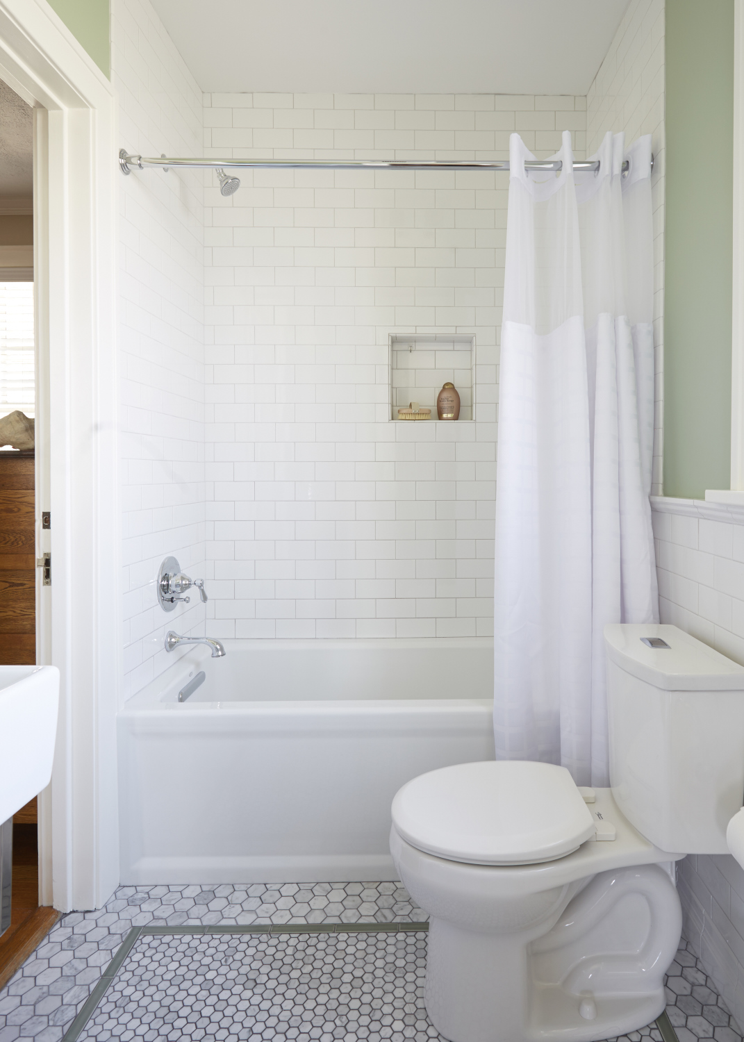 Arlington Heights Jack Jill Bathroom Remodel Catherine Schager Designs