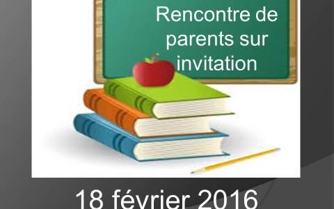 Rencontre parents bulletin