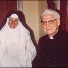 Fr. Ciszek visits with Sr. Marie Louis Bertrand, OP