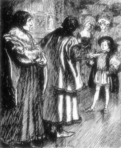 [Erasmus was astonished to notice More present Prince Henry with a roll