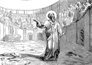 [Pictorial Lives of the Saints: Saint Polycarp, Bishop, Martyr]
