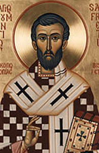 detail from an icon of Saint Frumentius of Ethopia, artist unknown, date unknown