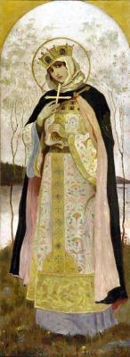 painting of Saint Olga, Mikhail Vasilyevich Nesterov, 1892; swiped off Wikipedia
