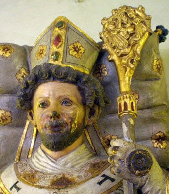 statue of Saint Otto of Bamberg, Monastery of Saint Michael, Bamberg, Bavaria, Germany; photographed by Dagny in December 2004; swiped off the Wikipedia web site