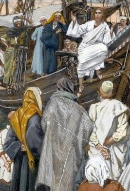 Christ preaching from a ship