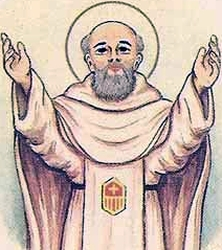 detail of an Italian holy card of Blessed Alfonso Burgos by Bertoni, date unknown; swiped from Santi e Beati