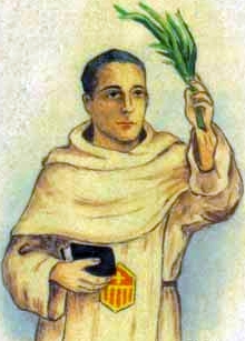 detail of an Italian holy card of Blessed Enric Morante Chic by Bertoni, date unknown; swiped from Santi e Beati