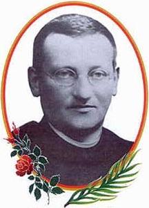 detail of a Blessed Józef Wojciech Guz holy card, date and artist unknown; swiped from Santi e Beati