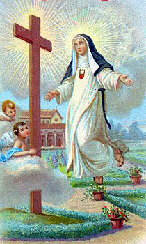1940's Italian holy card of Blessed Mariana, artist unknown