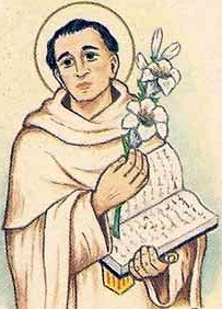 detail of an Italiano holy card of Blessed Raymond of Cardona by Betoni, date unknown; swiped from Santi e Beati