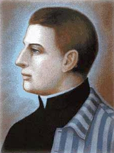illustration of Blessed Tadeusz Dulny, date and artist unknown; swiped from Santi e Beati