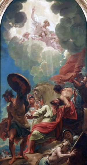 detail of the painting 'The Conversion of Saint Paul'; by Benjamin West, c.1786; Dallas Museum of Art, Dallas, Texas, USA; swiped from Wikimedia Commons