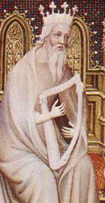 detail from an illumination on parchment by André Beauneveu, 1402, Bibliothèque Nationale, Paris