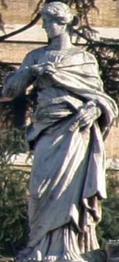 statue of Saint Beatrice of Rome, colonnade of Saint Peter's Basilica, Rome, Italy, c.1666, artist unknown
